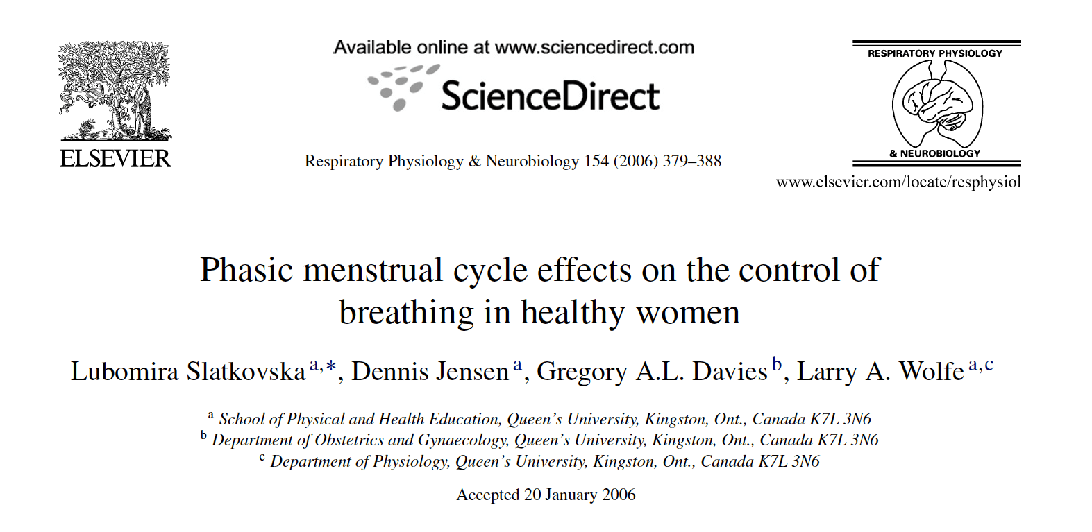 Phasic Menstrual Cycle Effects on the Control of Breathing in Healthy Women